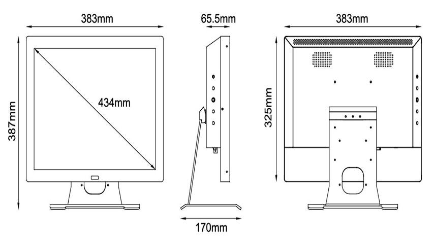 Размеры монитора компьютера