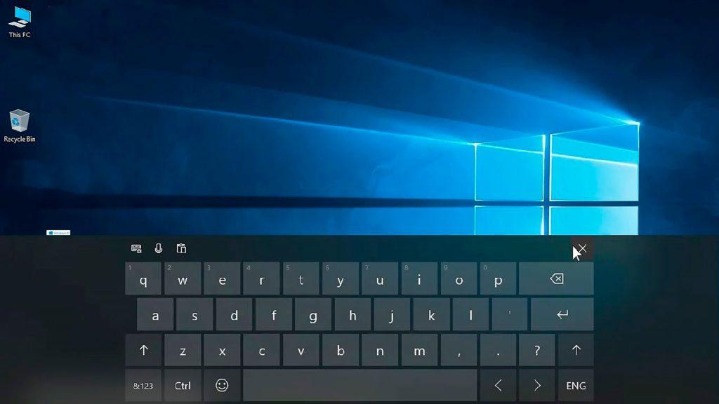 Клавиатура на экране Windows 10