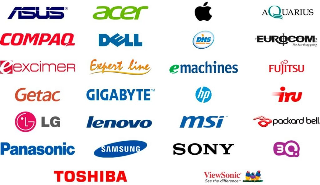 Логотипы производителей компьютерных мониторов